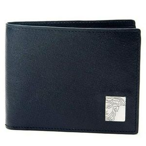 Versace Collection Leather Men's Bi-Fold Wallet